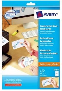 Avery 100 Lern-Karten bedruckbar A4 Drucker Kartei-Karten Lern-Zettel Uni Schule