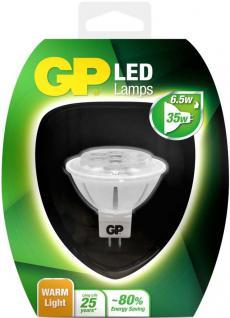 GP LED Strahler MR16 GU5, 3 6, 5W/35W Warmweiß 2700K Lampe Glüh-Birne Leuchtmittel
