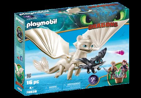 Playmobil 70038 Tagschatten und Kinder mit Babydrachen Dragons Drachen-Figuren