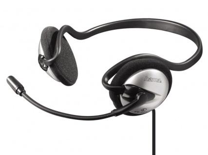 Hama CS-499 PC Neckband Headset Stereo-Kopfhörer 3, 5mm Klinke schwarz Grau
