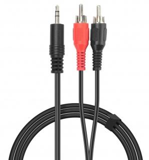 Speedlink 2m 3, 5mm Klinke auf 2 Cinch AUX Audio-Kabel Klinken-Stecker Chinch RCA