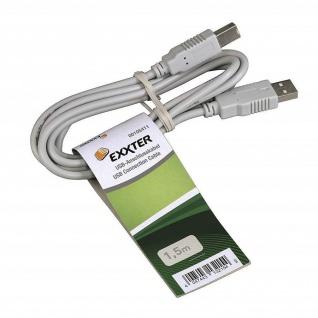 Hama 1, 5m USB-Kabel 2.0 Anschlusskabel USB-A auf USB-B-Stecker Drucker Hub PC ..