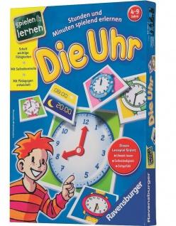 Ravensburger Die Uhr Lern-Spiel Uhrzeit Lernen Stunden und Minuten Kinder-Spiel