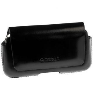Krusell Hector Mobile Case M-wide black Leder-Tasche Etui Flap Bag Hülle