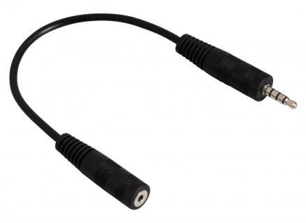 Hama Klinke-Adapter 2, 5mm Buchse > 3, 5mm Klinken-Stecker Headset PC Handy Audio