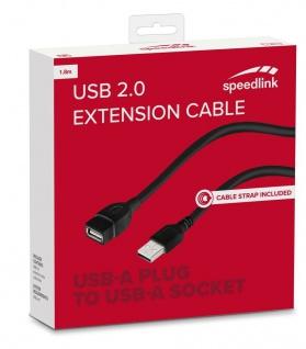 Speedlink HQ 1, 8m USB 2.0 Verlängerungs-Kabel USB-A Stecker zu USB-A Buchse