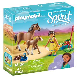 Playmobil 70122 Pru mit Pferd und Fohlen Spirit Reiterhof Spielzeugfiguren Pferd