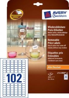 Avery Zweckform 2040x Preis-Schilder wiederablösbar Preis-Etiketten A4 Drucker