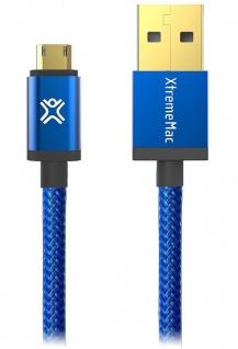 XtremeMac USB-A auf Micro-USB USB-Kabel 1, 2m Adapter Typ B Alu-Stecker Ladekabel
