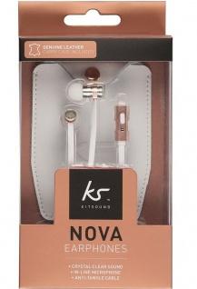 KitSound Nova In-Ear Headphones Mikrofon Kopfhörer 3, 5mm Klinke Headset Rosegold