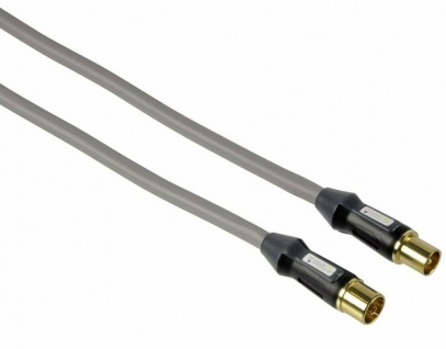 Monster Cable HQ Antennen-Kabel 1, 5m Koaxial-Kabel Koax-Kabel High-End TV Dose