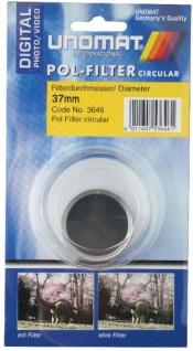 Unamat Polarisations-Filter 37mm Pol-Filter circular Digital f. DSLR Kamera Foto
