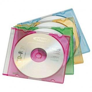 Ednet 20 CD-Hüllen CD-ROM Slim Leer-Hülle BluRay DVD-Hüllen 25er Pack Jewel Case