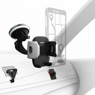 Hama Universal Klemm-Halterung Saugnapf Klebepad Lüftung für Smartphones 4-11cm