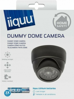 GP Dummy Dome Video Camera Fake Kamera LED Licht rot Attrappe Indoor Outdoor
