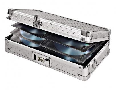 Hama CD DVD Alu Koffer Safe 64x CDs Silber DJ Case Aufbewahrungs-Box Alukoffer