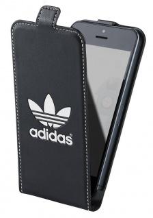 Adidas Flip-Cover Black Klapp-Tasche Schutz-Hülle Case Etui für Apple iPhone 5C