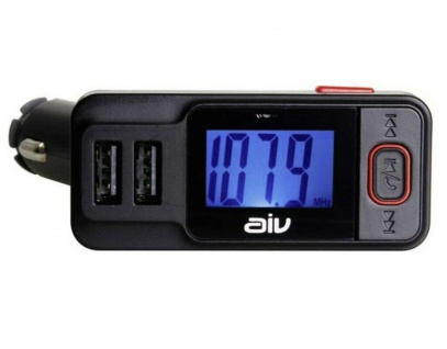AIV Bluetooth FM Transmitter RDS USB KFZ SD AUX Freisprechanlage Auto MP3 Player