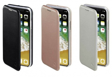Hama Booklet Curve Klapp-Tasche Hülle Case Flip-Cover für Apple iPhone X / Xs