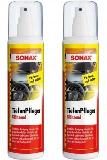 2x Sonax Tiefen-Pfleger 300ml Spray Glanz Kunststoff-Pflege Reiniger Reinigung