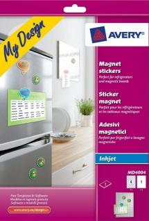 Avery Zweckform MD4004 Magnet Sticker Magnete bedruckbar A4 Bogen Pinnwand etc.