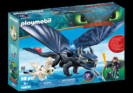 Playmobil 70037 Ohnezahn und Hicks mit Babydrachen Dragons Drachen Ausrüstung
