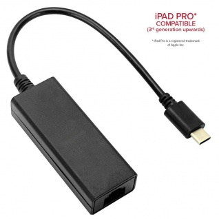 Speedlink HQ USB-C auf Ethernet Adapter-Kabel LAN Netzwerk-Adapter Typ C zu RJ45 - Vorschau 4