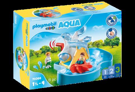 Playmobil 70268 Wasserrad mit Karussell Klein-Kinder Wasser-Spielzeug Wasserpark