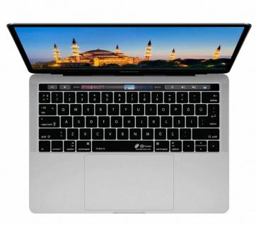 Tastatur-Abdeckung Skin Cover Deutsch auf Türkisches Layout für MacBook Pro