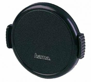 Hama Objektivdeckel Snap 62mm Aufsteck-Fassung Deckel schwarz für Objektiv DSLR