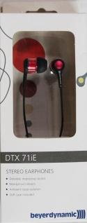 Beyerdynamic Stereo Earphone Kopfhörer 3, 5mm Klinke für Handy iPhone MP3 rot
