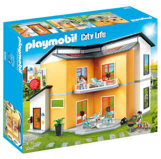 Playmobil 9266 Modernes Wohnhaus City-Life Spielzeug-Haus Spielfiguren Zubehör