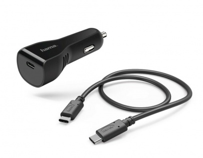 Hama KFZ Schnell-Ladekabel USB-C 3A PD Power Delivery Adapter Ladegerät PKW Auto