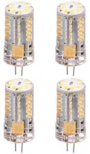 Patona 4x LED Glüh-Birne G4 SMD-3014 Stift-Sockel 2, 5W / 20W 12V Leuchtmittel