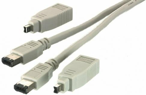 Vivanco Universal FireWire Anschluss-Set 4/4 4/6 6/6 IEEE-1394a 4p 6p Fire Wire