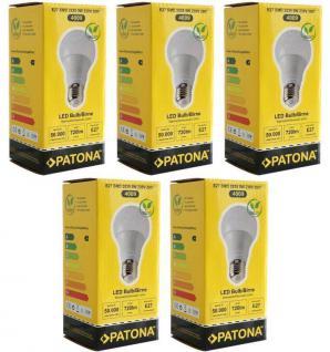 Patona 5x LED Birne E27 9W 70W Warm-Weiß 3000K LED-Lampe Glühbirne Leuchtmittel