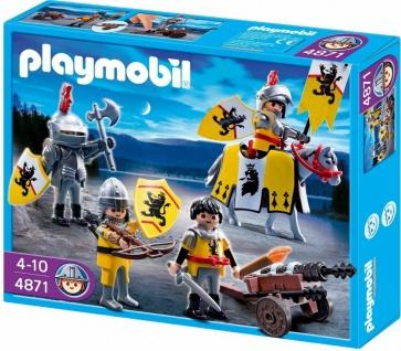 Playmobil Löwenrittertrupp 4871 Mittelalter Kampftrupp Ritter Kanone Spielzeug