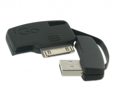 iGo USB Lade-Kabel Ladegerät Schlüssel-Anhänger für Apple iPhone 4S 4 3GS 3G 1G