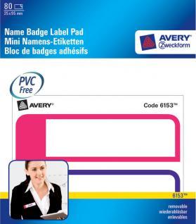 Avery Zweckform 80x Namensschilder Block Namensschild Namens-Etikett Aufkleber