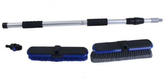 HSE24 Universal Wasserbesen-Set Waschbürsten Reinigungs-Set 3-tlg. verstellbar