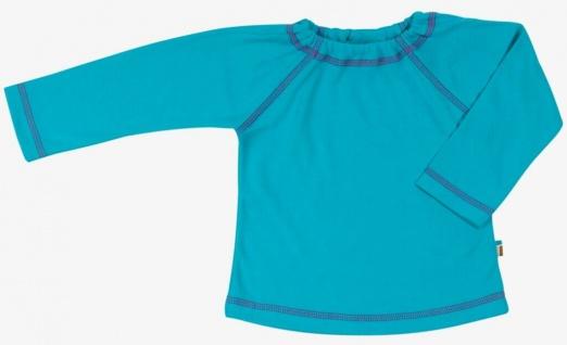 Tragwerk Shirt Finn Jersey Türkis 56-74 Baby Junge Mädchen T-Shirt Langarm Pulli