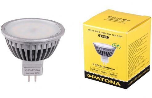 Patona LED Strahler MR16 6W / 55W Warmweiß 3000K Lampe Glüh-Birne Leuchtmittel