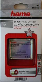 Hama ProClass Li-Ion Akku für HTC BA-S340 Touch HD HD1 T8282 Blackstone BLAC-160