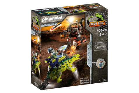 Playmobil 70626 Saichania: Abwehr des Kampfläufers Dinosaurier Action Spielset
