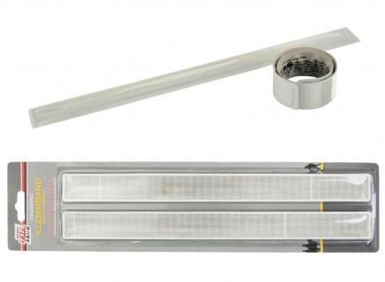 2x Klemm-Band Sicherheits-Band Reflex Reflektor-Band Leucht-Armband Klick-Band
