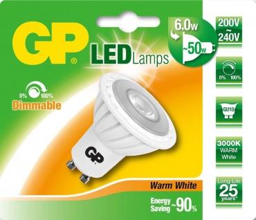 GP LED Strahler GU10 6W / 50W Warmweiß dimmbar Lampe Glüh-Birne Leuchtmittel
