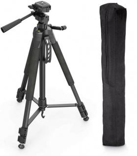 Hama Dreibein-Stativ Action 165cm 3D 3-Wege-Kopf Video Foto-Stativ + Spikes