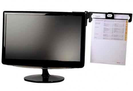 Hama Konzept-Halter Dokumenten-Halterung Vorlagen-Halter Lese-Ständer PC Monitor