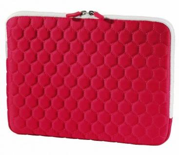 """Hama Netbook-Tasche Cover Hexagon Rot für 11, 6"""" 11"""" Notebook-Hülle Case Sleeve"""