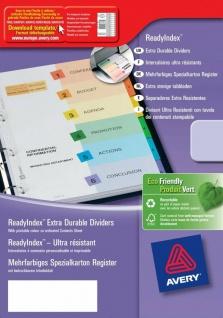 Avery Zweckform A4-Register bedruckbar 5-teilig Trennblätter farbig A4-Ordner